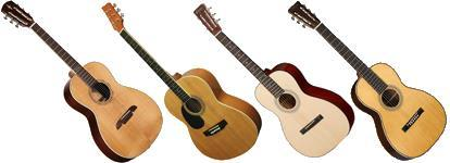 Left handed parlor guitars